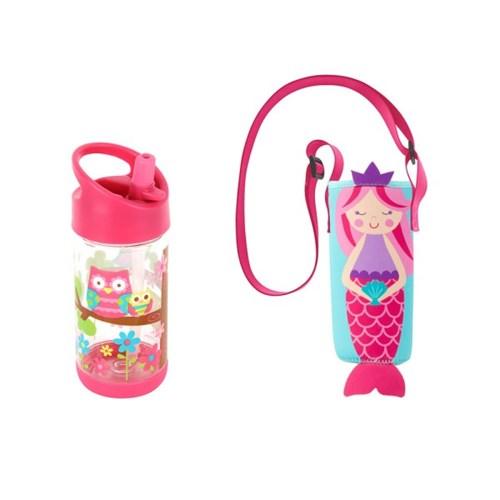 어린이집 선물 세트(물병가방+빨대물병) - 인어부엉이