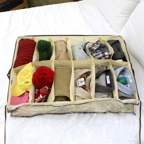 언더베드 부직포 수납함 정리 보관 가방 옷 의류 가방 패브릭 박스