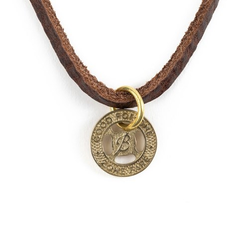 TRANSIT TOKEN LEATHER NECKLACE