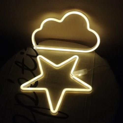 별 구름 네온사인 조명 무드등