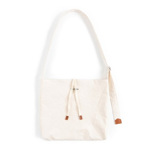 COTTON CRINKIE CROSS BAG (ivory)