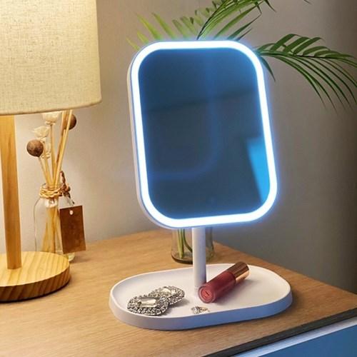 화장대 LED 조명 화장 탁상 미니 메이크업 거울