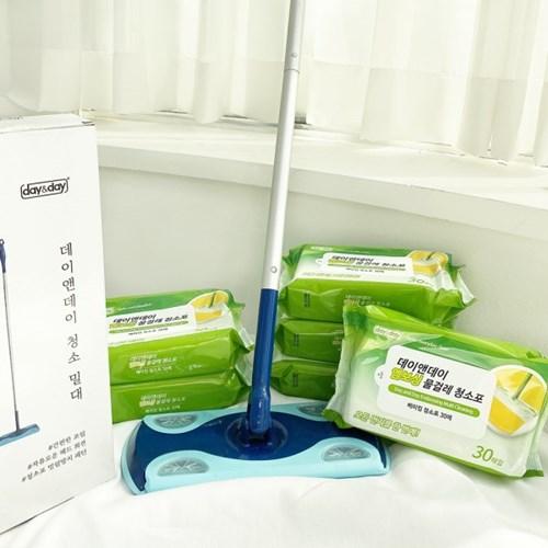 VNB 물걸레 청소 밀대 + 청소포 1팩