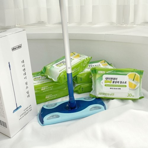 VNB 물걸레 청소 밀대 + 청소포 3팩