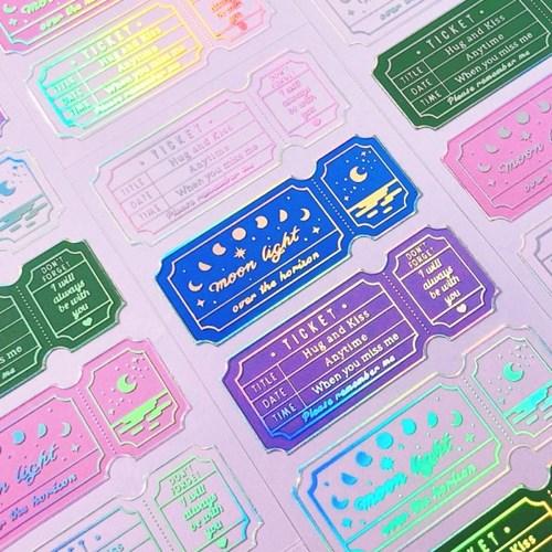 투명금테 Clear Ticket Aurora 칼선 스티커