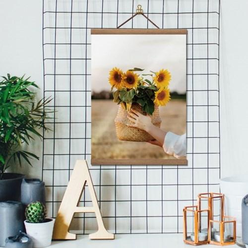 행잉우드프레임 캔버스포스터-해바라기(sunflower)4종