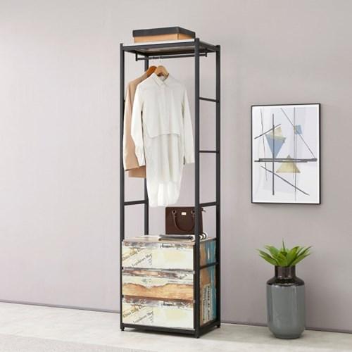 블린홈 3단서랍장 600 옷걸이 드레스룸 시스템 행거