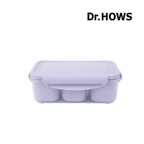 [닥터하우스] 본 3칸 나눔 밀폐용기 1100ml