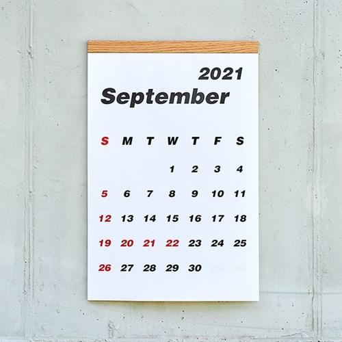 2022 심플 우드 캘린더