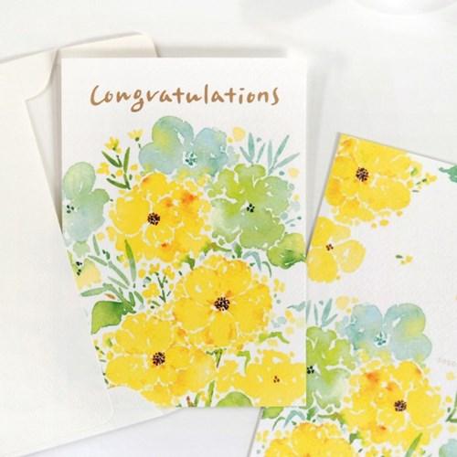 플라워 축하 카드