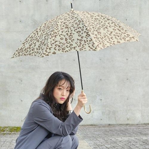 wpc우산 브러쉬 레오파드 장우산 19598-01
