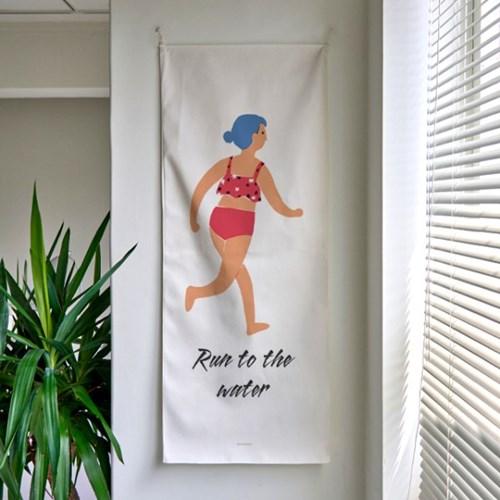 run to the water A_세로형 패브릭 포스터 / 바란스커튼
