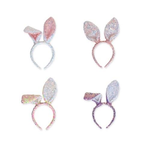 [마미버드] 스팽글 파티 토끼 머리띠 (4color)