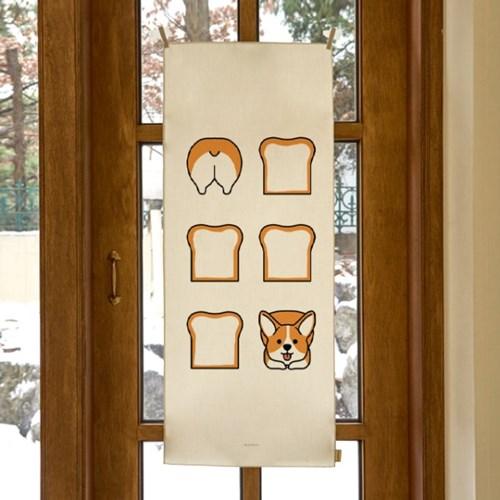 happy happy bread 세로형 패브릭 포스터 / 바란스커튼