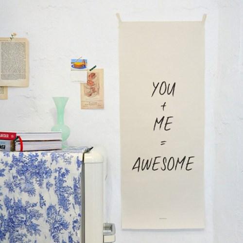 lettering/레터링 B_세로형 패브릭 포스터 / 바란스커튼
