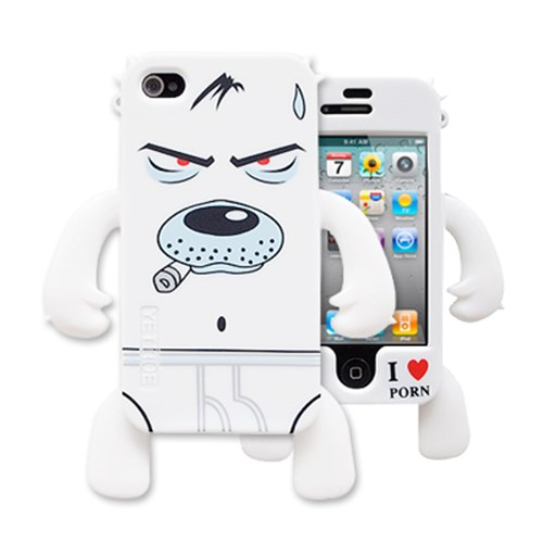 YETT 아이폰 4용 불량 불독 (화이트)
