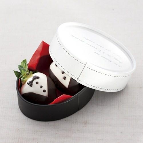[코지아트]초콜릿박스(타원형/화이트앤블랙) no.5579