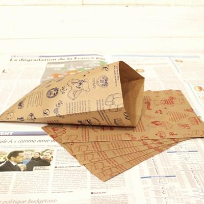 베어 페이퍼 봉투 10p set (대) - 2color