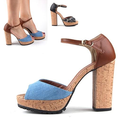 Wooden Chunky Heel [KE5140]