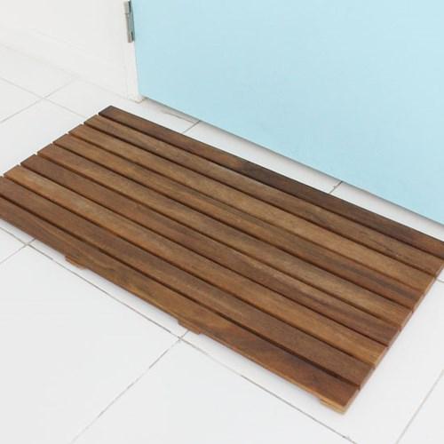 원목욕실매트와이드형엔틱(90X45Cm)