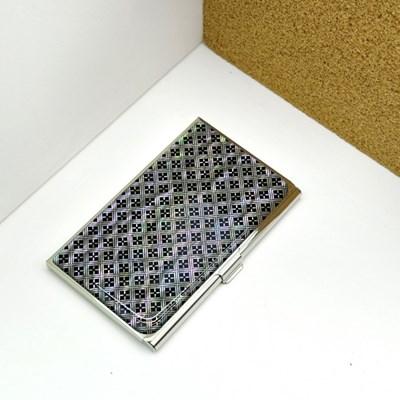 해포무늬 라운드 자개명함집