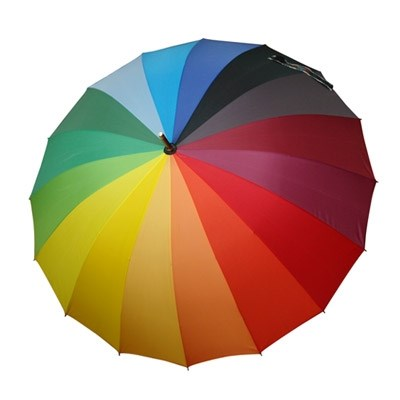 레인보우 스트라이프 장우산