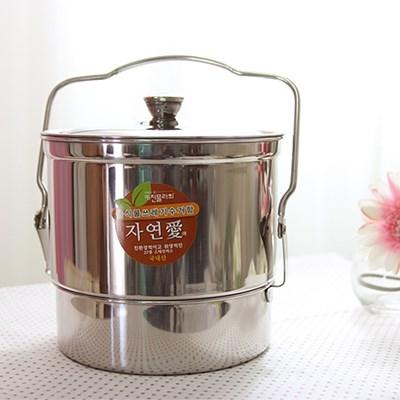 자연애 스텐레스 음식물 쓰레기통 4.5L