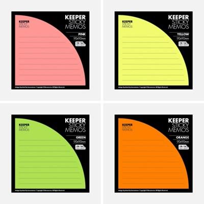 KEEPER STICKY MEMOS(4종set)