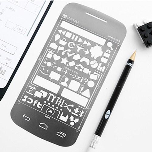 Android Stencil Kit - Donut + 미니샤프(지브라)