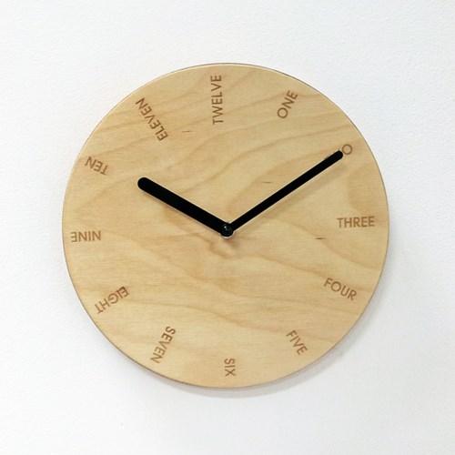 PLY자작나무벽시계-NO.07(무소음)