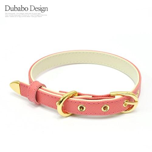 [18K도금]사피아노 투톤목줄(분홍색 XS,S,M)