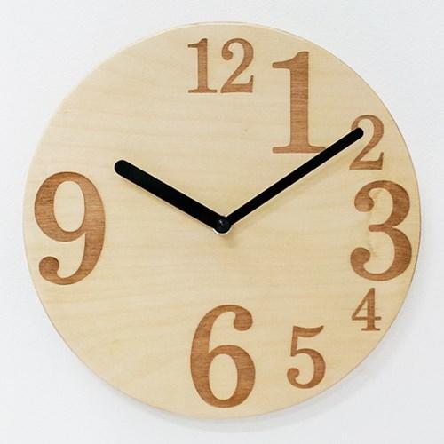 PLY자작나무벽시계-NO.09(무소음)