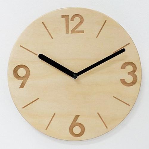 PLY자작나무벽시계-NO.11(무소음)