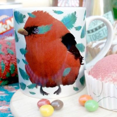 Red Bird Mug
