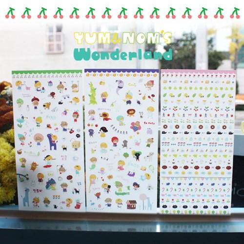 YUM&NOM'S Wonderland 스티커