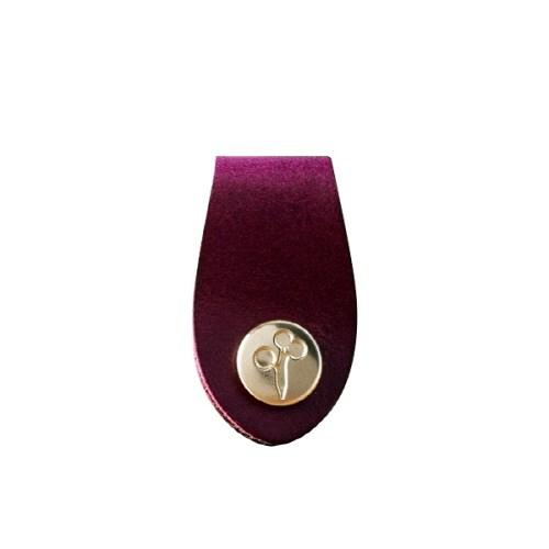 Purple_Mini Leather Tie