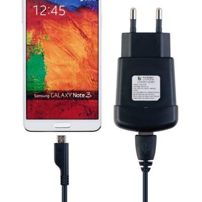휴대용 스마트폰 USB  고속 충전기 2A (5Pin 데이터충전케이블포함)