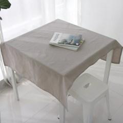 밀크 베이지 리넨 테이블 커버