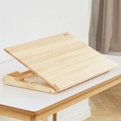 명품 각도조절 독서대 600 소나무 원목 필기 큰독서대