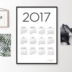 2017 SIMPLE CALENDAR FRAME