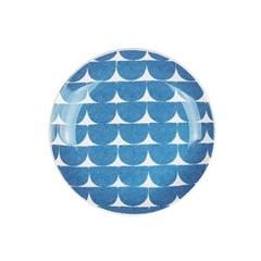 """Ocean blue wave 6"""" plate"""