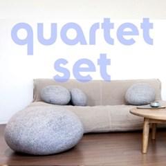 filo Quartet Set 필로 쿼텟 세트 돌쿠션 돌멩이쿠션