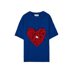 [Hello Kitty] Heart S/S Knit(Blue)_(528995)