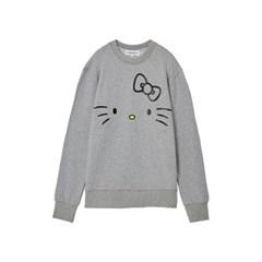 [Hello Kitty] Kitty Face Sweatshirt(Melange Grey)_(528997)