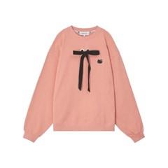 [Hello Kitty] Ribbon Sweatshirt (Pink)_(529000)