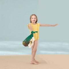 [키썸플레이] 걸즈 프릴 수영복 - 옐로우