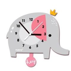 [퍼니즈]어썸프렌즈(코끼리)/움직이는 추시계/12종/무소음벽시계