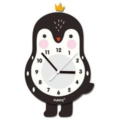 [퍼니즈]어썸프렌즈(펭귄)/움직이는 추시계/12종/무소음벽시계