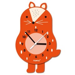 [퍼니즈]어썸프렌즈(여우)/움직이는 추시계/12종/무소음벽시계