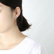 큐빅 서클 귀걸이